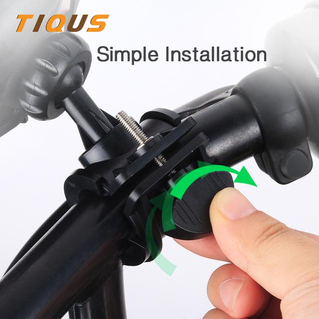 TIQUS 360 Degree Adjustable Bicycle Phone Holder Motorcycle/Bike Handlebar Universal Smartphone Mount for Bike GPS Navigation