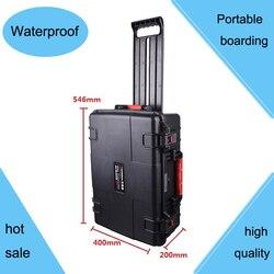 Caja de Herramientas carrito resistente a impactos sellado impermeable ABS caja 490*333*172 caja de equipo con espuma precortada
