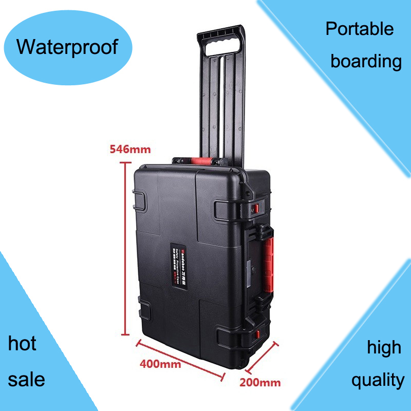 Tool case toolbox trolley Impact resistant sealed waterproof  ABS case 490*333*172 camera case Equipment box with pre-cut foam tool case gun suitcase box long toolkit equipment box shockproof equipment protection carrying case waterproof with pre cut foam