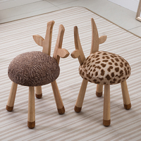 Free shipping U BEST Wooden cute various animal stools new products Nordic children's chair