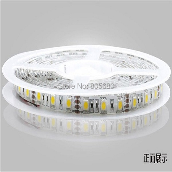 5050 60led/м мягкий компонентный видеосигнал ленты светодиодов 5050 60 светодиодов/m водонепроницаемый dc12v 100 м/лот оптом от производителя(Сертификация CE& по ограничению на использование опасных материалов в производстве