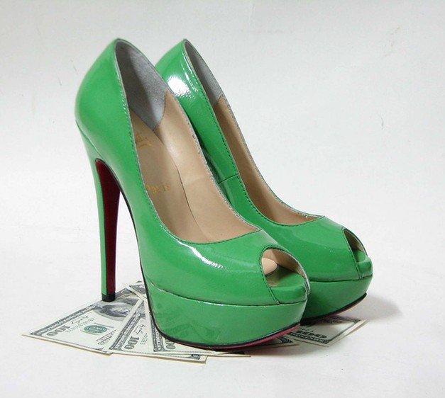 Str Daffodil Glitter Pumps Green High Heel Shoes Y Women
