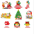 15PCS Cars Styling Christmas Serise Funny Cartoon Car Stickers Reflective Stickers Best Christmas Gift