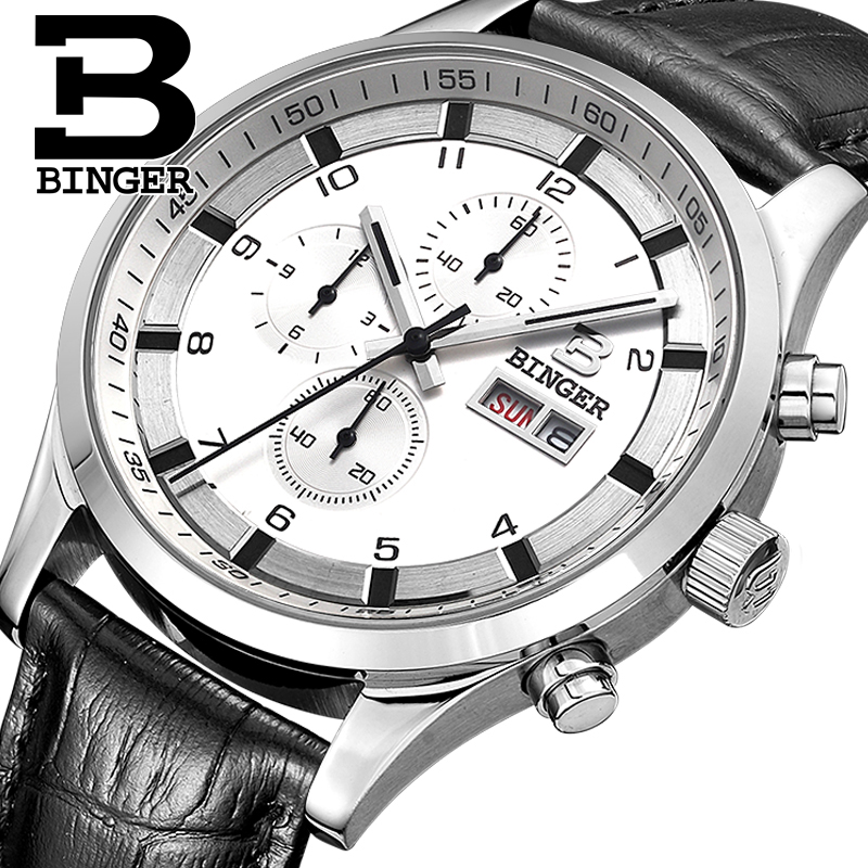 Switzerland Men s Watches Sapphire BINGER Watch Men Brand Luxury Quartz Male Watch Waterproof Luminous Wristwatches