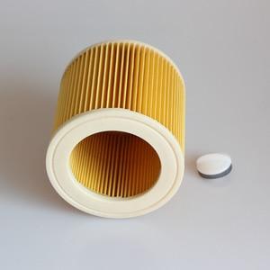 Image 4 - 3 шт. пылезащитные фильтры для Karcher Запчасти для пылесосов картридж HEPA фильтр WD2250 WD3.200 MV2 MV3 WD3 фильтр Karcher