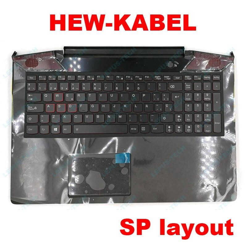 Spanish SP palmrest Keyboard for LENOVO Y700 Y700 15 Y700 15ISK Y700 15ACZ with backlit LA