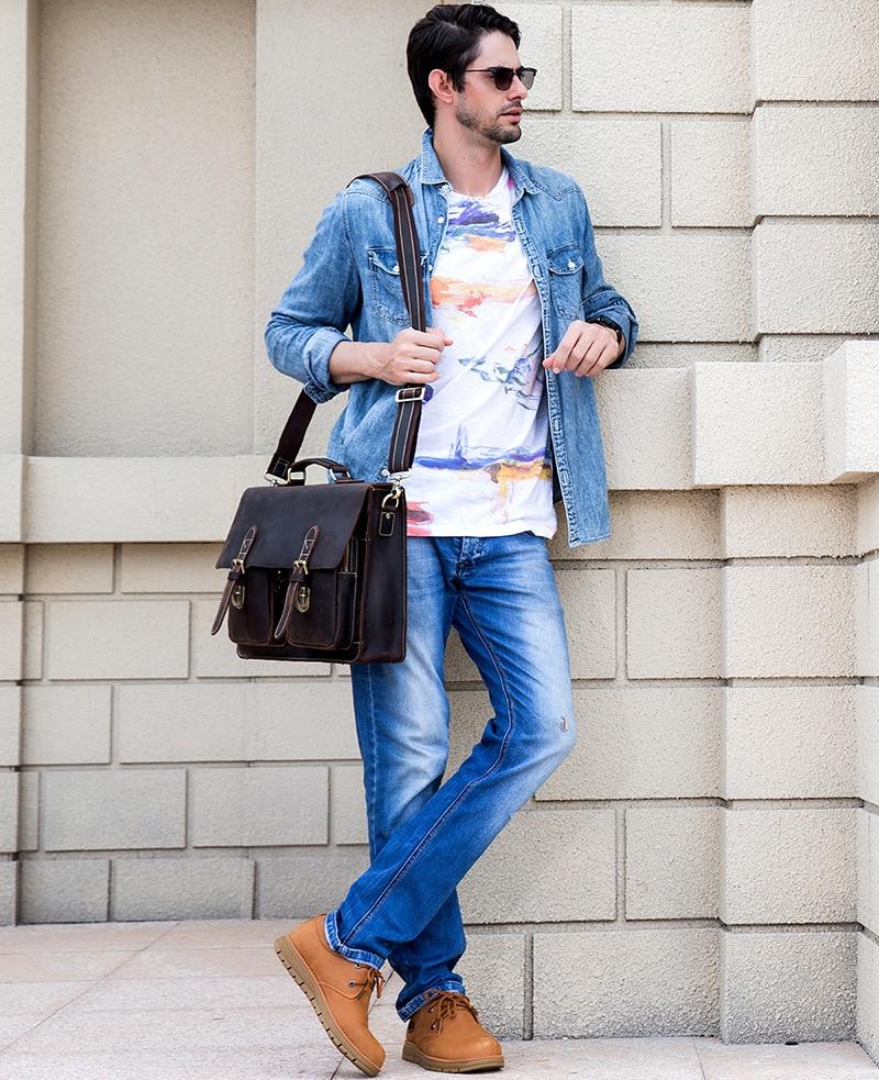 HTB18 6SX.CF3KVjSZJnq6znHFXaZ MAHEU Luxury Fashion 100% Genuine Leather Men Briefcase Cow Leather Laptop Bag Vintage Shoulder Bag Real Cowhide Computer Bag