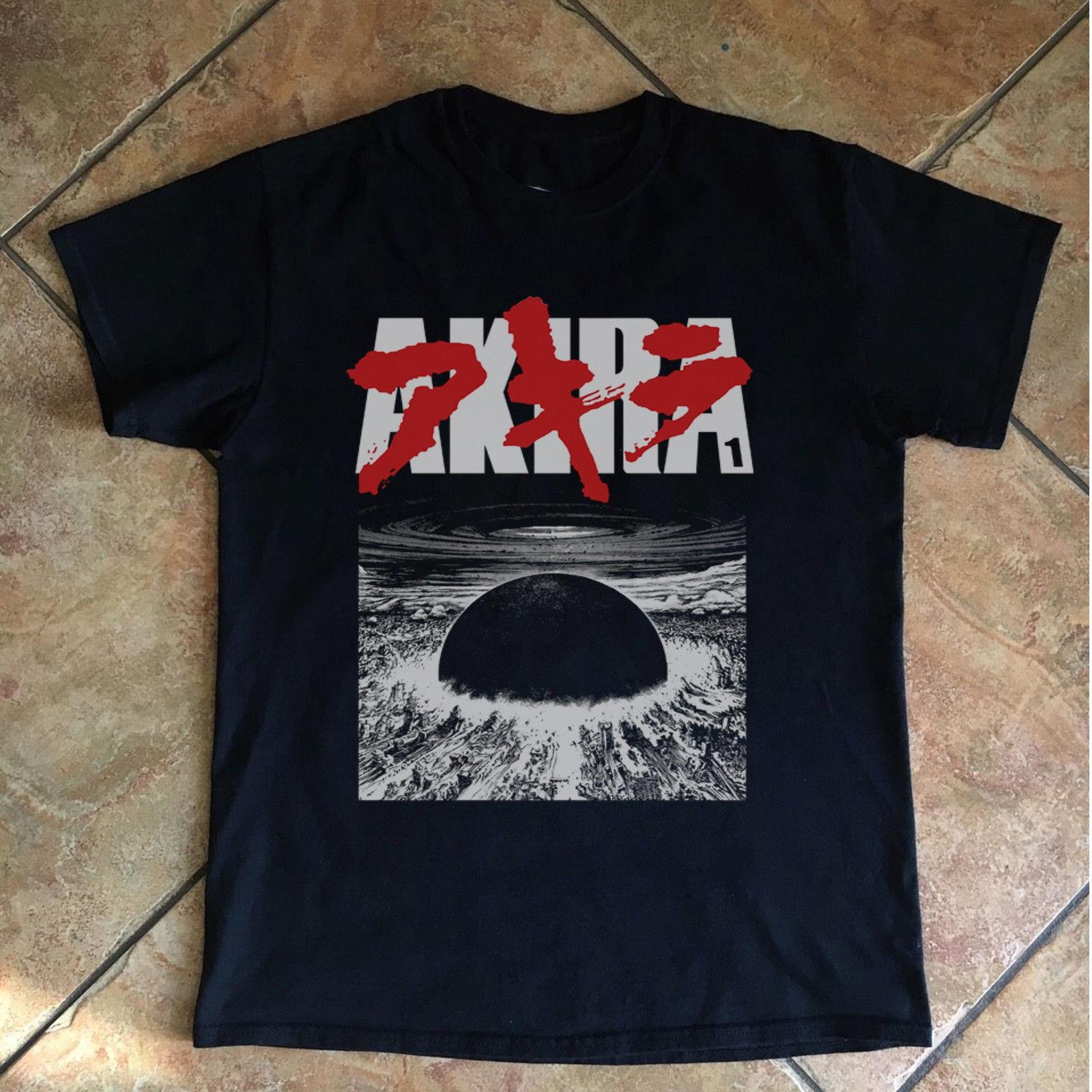 Vintage Shirt Akira T shirt 1989 Game Anime Movie Japan Black T-Shirt Reprint XS - 2XL Short Sleeve Plus Size t-shirt