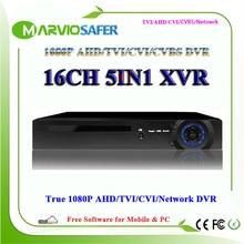 16ch Full HD 1080P AHD-H AHD-M AHD TVI DVR AVR TVR HVR CCTV Camera Recorder Video System Recording