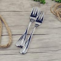 VanKood Kitchen Stainless Steel Fruit Fork and Dinner Forks Useful Tool Dinnerware Steel