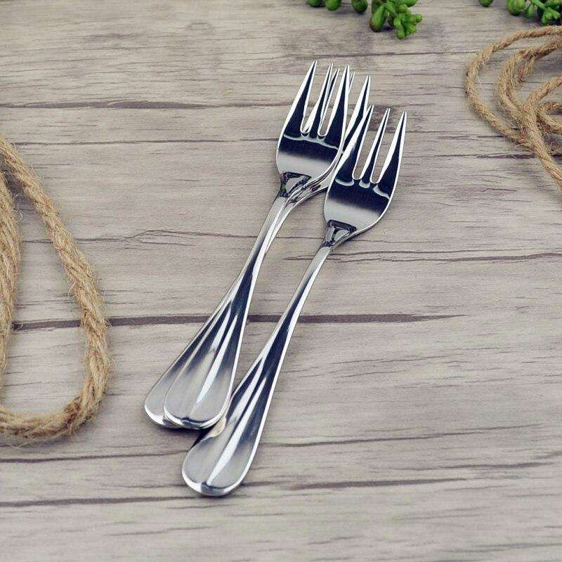 Vankood cozinha de aço inoxidável garfo frutas e jantar forquilhas ferramenta útil louça aço