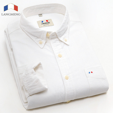 Langmeng 2015 hot selling men brand shirt new spring autumn mens casual shirts high quality man formal dress shirt big size