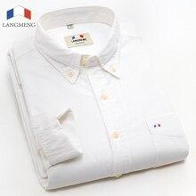 Langmeng 2015 hot selling men brand shirt new spring autumn mens casual shirts high quality man formal dress shirt big size