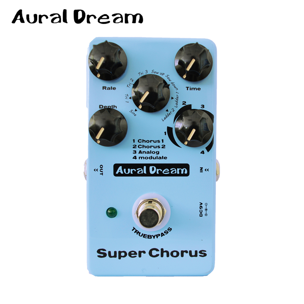 Aural Dream Super Chorus 8 Algorithms Electric Guitar Digital Effect Pedal with Five knobs True Bypass Design mooer ensemble queen bass chorus effect pedal mini guitar effects true bypass with free connector and footswitch topper