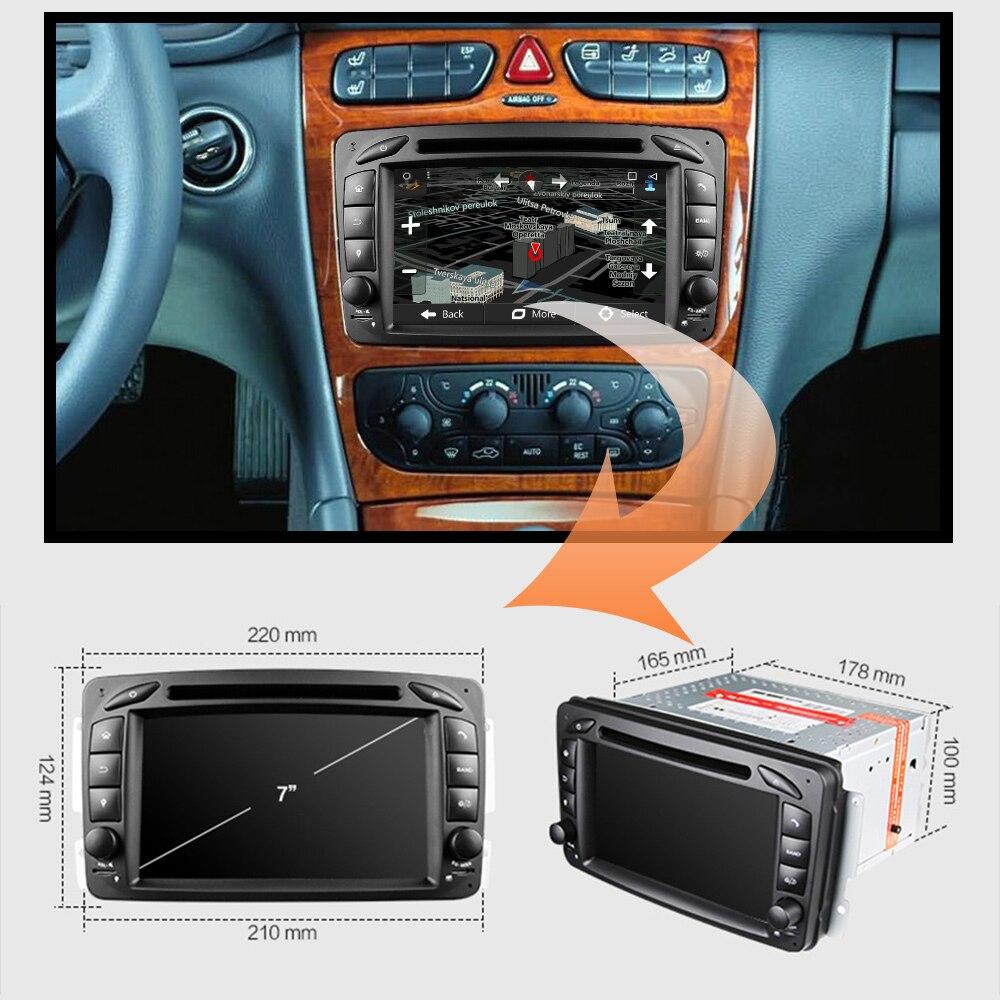 Eunavi 2 Din Android 9.0 samochodowy radioodtwarzacz dvd samochodowe stereo nawigacja gps dla Benz W203 W208 W209 W210 W463 Vito Viano z wifi bt swc