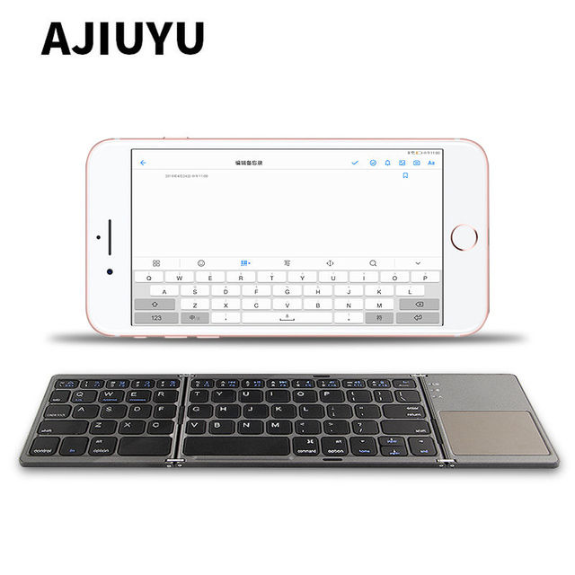 sports shoes b4d4f f34a3 US $30.75 |Three folded wireless Bluetooth Keyboard For Apple iPhone X XS  Max iphone 7 8 Plus 7Plus 6 6sPlus 5 5S SE x s Mobile Phone Case-in ...