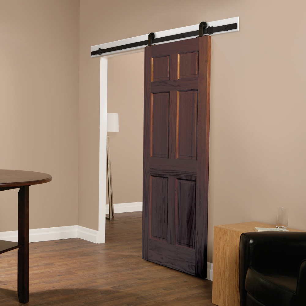 Online buy wholesale oak interior doors from china oak for Single sliding barn door