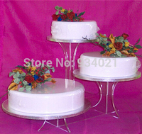 Free Shipping 3 Tier Acrylic Wedding Cake Stands