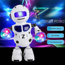 Smart Space Dance Robots Walking and English Speaking Humanoid Toys With Music Light For Children Christmas Gift(China)