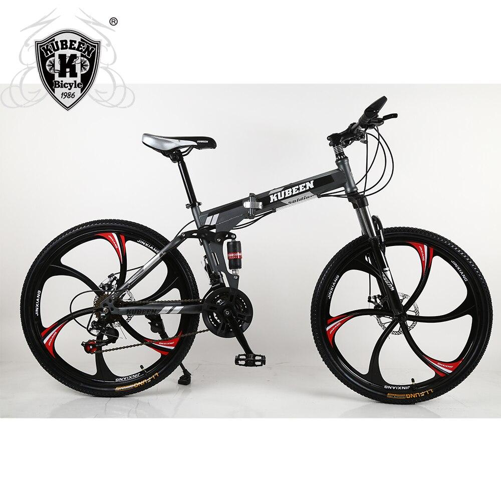 Bicicleta de Montaña KUBEEN bicicleta de 26 pulgadas de acero de 21 velocidades frenos de disco dual velocidad variable bicicleta de carreras bicicleta BMX bicicleta