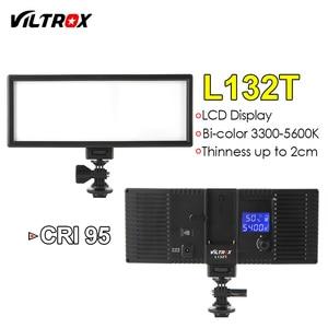 Image 2 - Viltrox L132T ثنائي اللون عكس الضوء LED الفيديو الضوئي x2 + 2x ضوء حامل + 2x محول التيار المتناوب ل DSLR كاميرا استوديو LED طقم الإضاءة