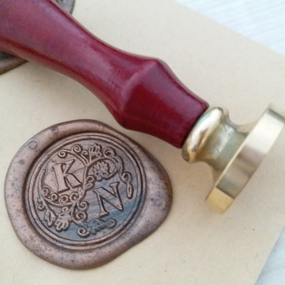 letter wax seal aliexpress buy custom initial two letter with 23296