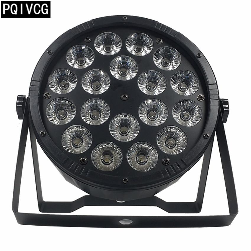 New product Large lens 18x12w led par light rgbw 4in1 dmx512 plastic par light professional stage