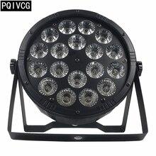 Новый продукт! Большой объектив 18 светодио дный 12 Вт LED par light rgbw 4в1 dmx512 пластиковый par light professional stage dj light