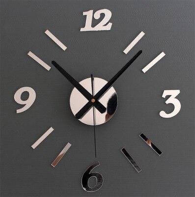 US $16.05 5% di SCONTO|Nuovo Arrivo Acrilico Numero Semplice Design sticker  30 CM 50 CM cucina orologio da parete di colore grande decorativi 3d fai ...