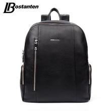BOSTANTEN Berühmte Marke Aus Echtem Leder Männer Rucksack Taschen Große Männer Reisetasche Luxus Designer Leder Schultasche Laptop Rucksack