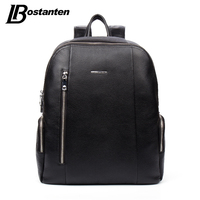 BOSTANTEN Famous Brand Genuine Leather Men Backpack Bags Large Men Travel Bag Luxury Designer Leather School