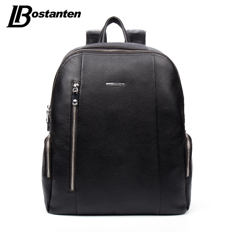 Prix pour Bostanten célèbre marque véritable en cuir hommes sac à dos sacs grand hommes voyage sac de luxe designer en cuir école sac d'ordinateur portable sac à dos