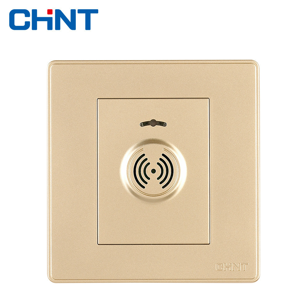 CHINT Sound Control Delay Switch NEW2D Light Champagne Gold Wall Sensing