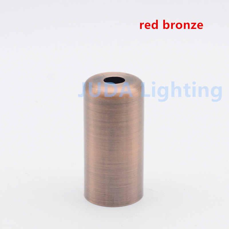 E14 פלסטיק מנורת בעל ברזל כיסוי מנורת בסיס צל E14 מתכת מנורת כוס עבור led תליון אור נברשת מקורה אורות אבזרים