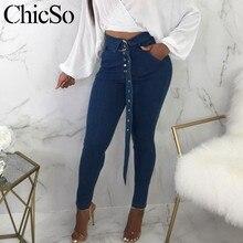 MissyChilli Casuais jeans skinny de cintura alta calças fundo sino calças  das senhoras Das Mulheres denim Inverno zipper calças . b7dd4220f8