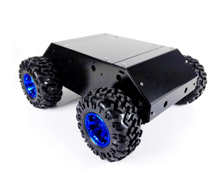 C400N 4WD Auto. Roestvrij Stalen Frame met 130mm wielen en Grote Power DC motoren. Super Belasting Voor DIY Speelgoed Auto-in Onderdelen & accessoires van Speelgoed & Hobbies op  Groep 1