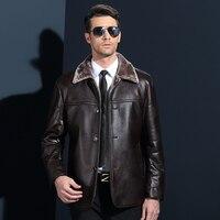 Nieuwe collectie Mannen lederen jassen Winter dikker Fleece PU lederen jassen casual jassen jaqueta de couro masculina Big 3xl