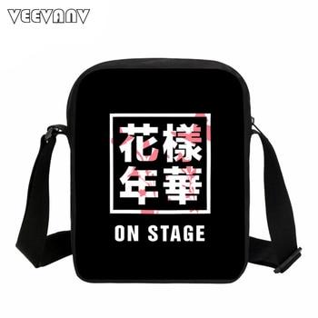 VEEVANV Kpop BTS Bangtan Boys Messenger Bags Men JUNG KOOK JHOPE JIN JIMIN V SUGA  BTS Women Shoulder Bags School Crossbody Bags