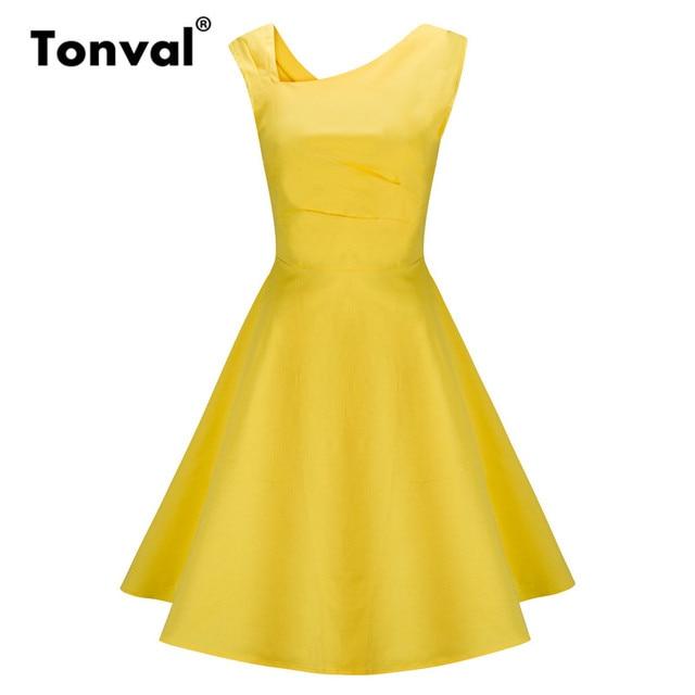 1950s Yellow Dresses
