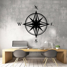 3D compass Vinyl Wall Sticker Home Decor Stikers Removable Bedroom Nursery Decoration