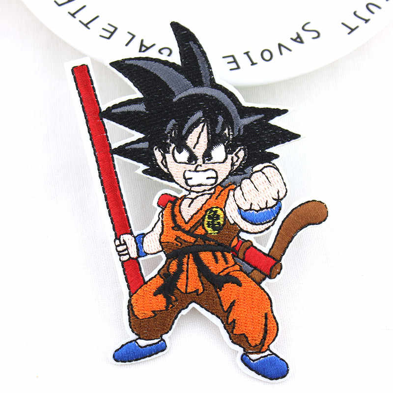 Cartoon Dragon Ball Goku Full Embroidered Iron patches For clothing Kids DIY patch Badges Stickers Appliques wholesale