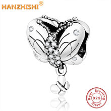 2019 Spring Newest Authentic 925 Sterling Silver Butterfly Charm Beads Fit Original Pandora Charms Bracelet DIY Jewelry Berloque