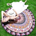 Fashion female all-match retro scarf spring folk style round bohemia summer chiffon sunscreen travel beach towel