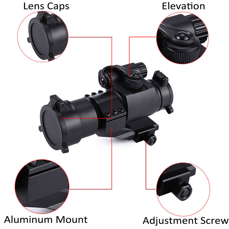 Image 5 - M2 Hunting Riflescope Reflex Red Green Dot Scope Aiming Sight Laser Gun Sighting Telescope 20mm Rail Mounts for Thermal Imager-in Riflescopes from Sports & Entertainment