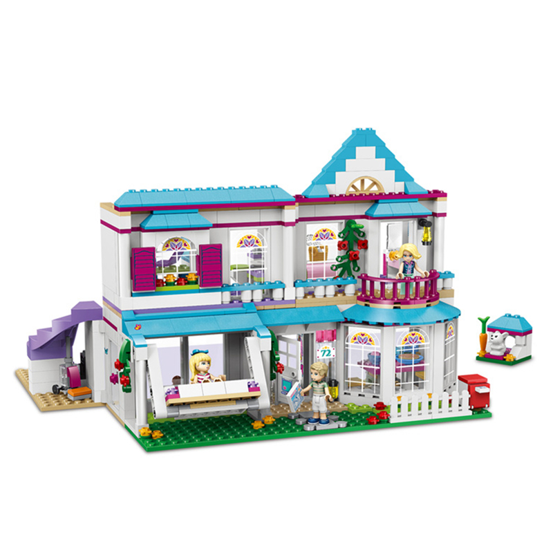 New 10612 friends series The Stephanie's House Model Building Blocks set Compatible 41314 Classic architecture Toys for children wange 8011 new famous architecture series the kuala lampur petronas tower 3d model building blocks classic toys for children