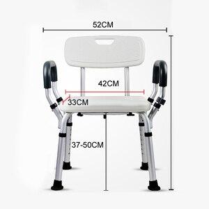Image 5 - Стул для сиденья унитаза, складной портативный стул для ванной и душа для пожилых людей, стул для душа, кресло для ванной 150 кг