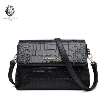 LANRENTOU New women leather bag fashion Crocodile pattern Embossing bags women leather shoulder bag Handbags & Crossbody bags