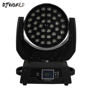 2 adet/grup LED 36x18W Zoom LED RGBWA + UV Hareketli Kafa Yakınlaştırma Yıkama dj ışığı Render 6 Renk salon Sahne Disko Bar Gece Kulübü