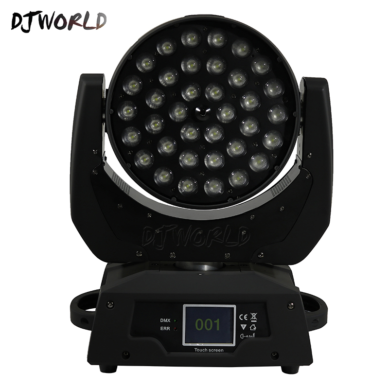 2pcs/lot LED 36x18W Zoom LED RGBWA+UV Moving Head Zoom Wash DJ Light Render 6 Color In Hall Stage Disco Bar Night Club factory price 4pcs led moving head zoom wash light 36x10w rgbw 4 in1 stage night club disco bar uplighting fast