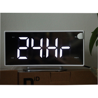 Modern Digital LED Digital Clock FM Radio Projection Alarm Clocks Desktop Large Numbers Display for Home Decoration